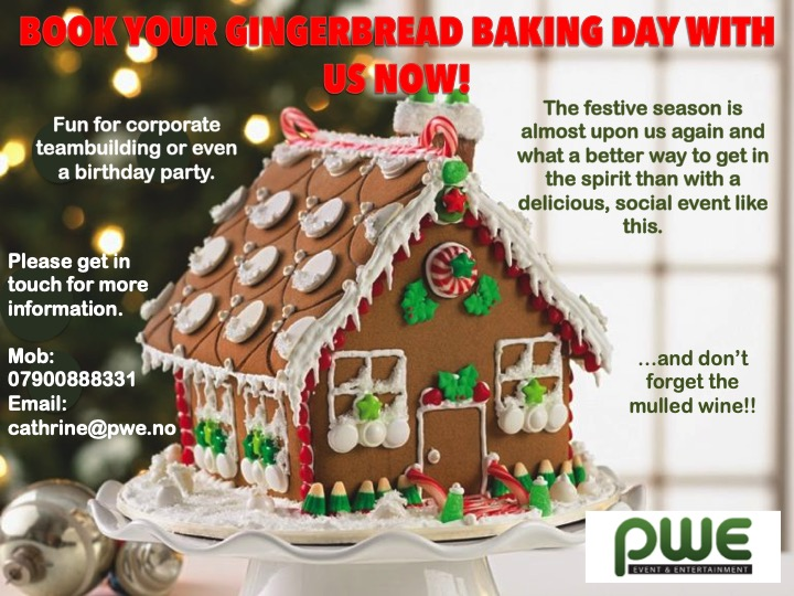 Book your gingerbread event now